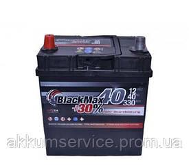 Акумулятор автомобільний Black Max Asia 40AH L+ 380A