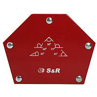 Пятиугольный сварочный магнит S&R 23 кг (290201009)