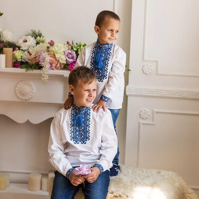 Детская рубашка для мальчика воротник стойка