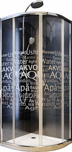 Душова кабіна 90х90 з мілким піддоном 5,5см Aquaform NIGRA (100-40062) Польща