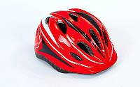 Шлем защитный с механизмом регулировки SK-5611 (EPS, PE, р-р L-54-56, 12 отверстий, цвета в ассортименте)