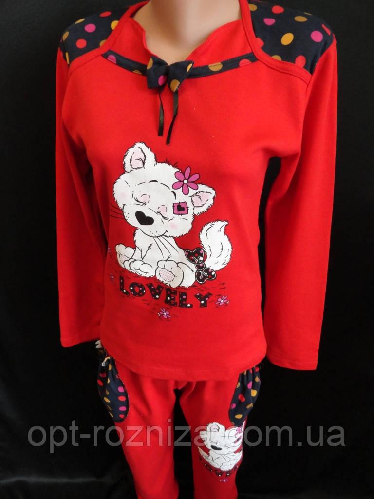Яркие молодежные пижамы из интерлока.