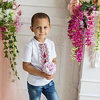 Детская футболка с вышивкой для мальчика