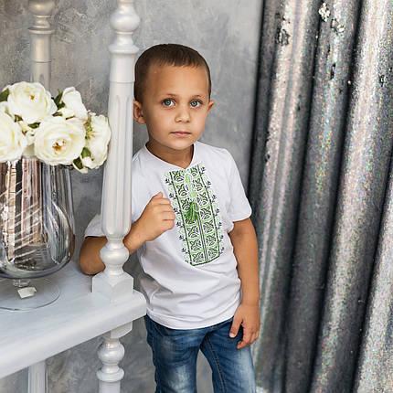 Трикотажна футболка з вишивкою для хлопчика, фото 2