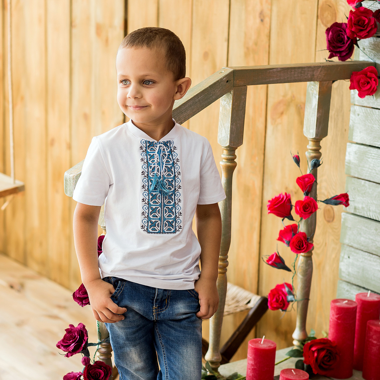 Трикотажная вышиванка для мальчика