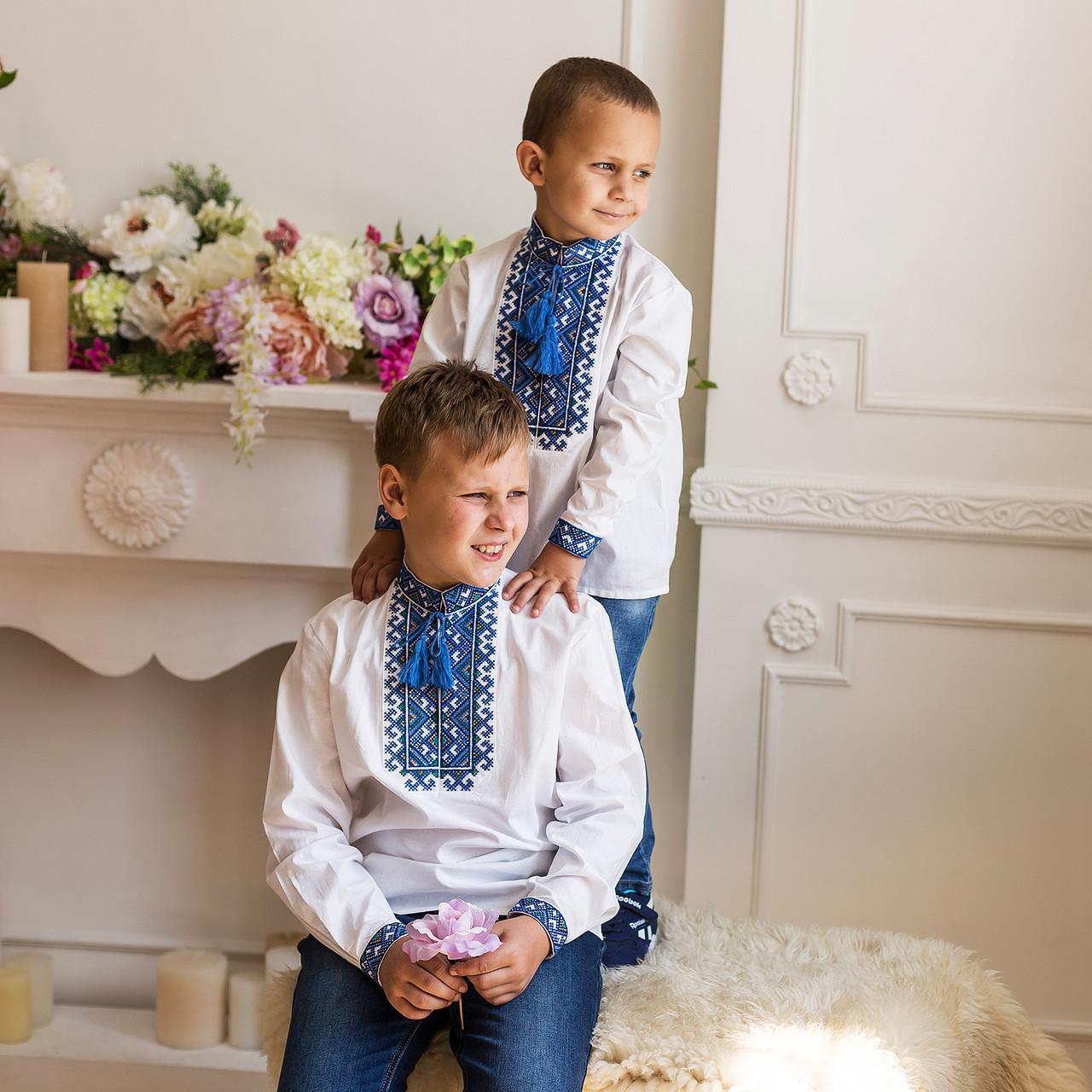 """Вышиванка мальчик """"Миколка"""" стойкой воротник"""