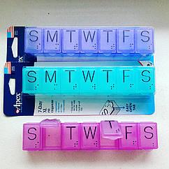 Органайзер для таблеток на 7 дней, размера X, Apex
