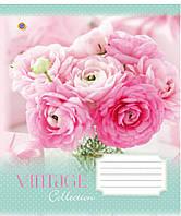 Тетрадь 60 листов линия А5 ЗУ Vintage flowers-17 общая. 794809