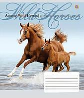 Тетрадь 60 листов линия А5 ЗУ Wild Horses-17 общая. 794900