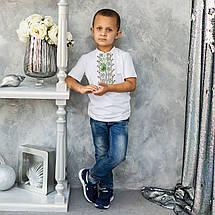 """Трикотажная вышиванка для мальчика """"Демьян"""", фото 3"""