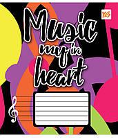 Нотная тетрадь А5 12 л. YES Music Heart 761286