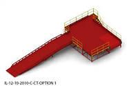 Пандус перегрузочный 6т с платформой уравнительной 2х2м и эстакадой стационарной 12м