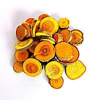 Набор спилов (срезов) ассорти жёлтых 25шт (20-35мм)
