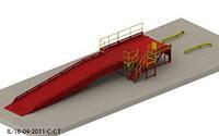 Эстакада перегрузочная 9м 6т с платформой уравнительной 2х2.5м и фермой выносной 90