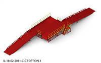 Пандус перегрузочный 6т с 2 платформами уравнительными 2х2м и двумя эстакадами 9м