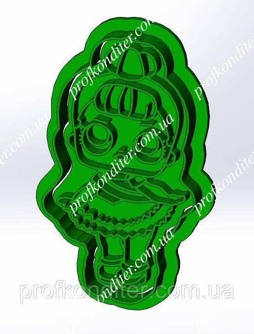 Пластикова вирубка з відбитком Лялька Лол №5