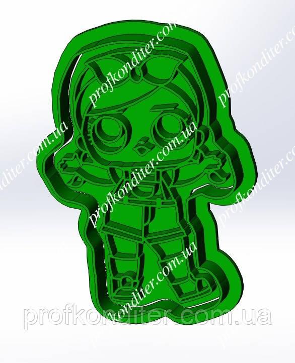 Пластикова вирубка з відбитком Лялька Лол №7
