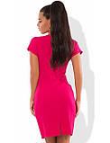Малиновое мини платье Д-1596, фото 2