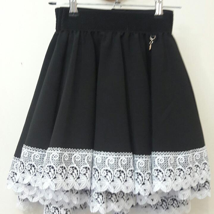 """Красивая школьная юбка для девочки """"Анжелика"""" черная"""