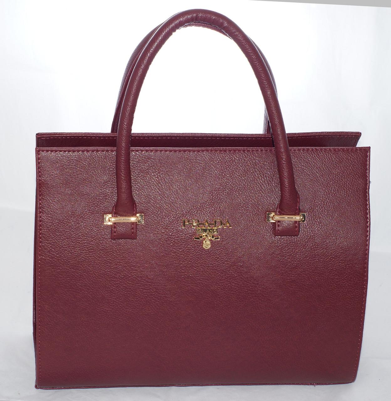 3e1948525769 Каркасная женская сумка Prada (Прада), бордовая: продажа, цена в ...