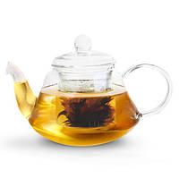 Заварочный чайник стеклянный 1л с фильтром Lucky Fissman (9363), фото 1