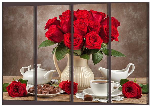 Модульная картина Розы и конфеты