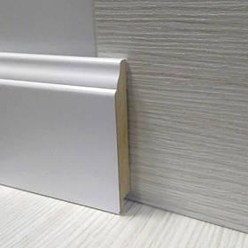 Плинтус МДФ белый напольный фигурный 16*95*2800мм