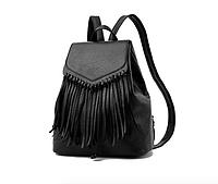 Рюкзак женский городской из кожзама Ковбойский Черный, фото 1