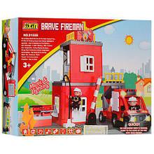 """Конструктор """"Пожарная станция"""" Brave fireman ТМ JIXIN (52 детали) арт. 9188 В"""