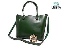 Большая Зеленая сумка из натуральной кожи Galanty