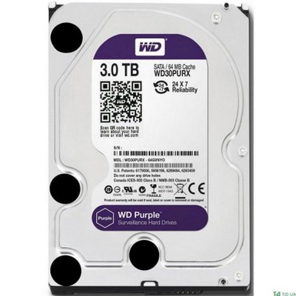 Жорстку внутрішній диск Western Digital Purple (WD30PURZ)
