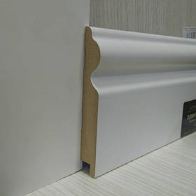 Плінтус підлоговий білий МДФ високий 16*110*2800 мм