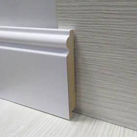 Плинтус белый МДФ высокий напольный фигурный 16*100*2800мм