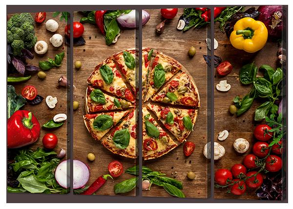 Модульная картина Пицца и овощи