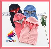 Жилет детский флисовый теплый (пошив под заказ от 50 шт.), фото 1
