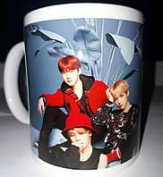 Чашки  BTS синие, фото 1