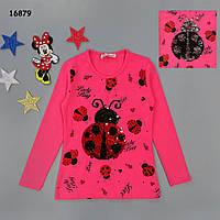 """Кофта """"Божа корівка"""" для дівчинки (двосторонні паєтки). 8, 9 років, фото 1"""