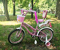 Детский велосипед Sigma Rueda 16 дюймов для девочки от 4 лет до 7 лет