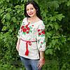 """Женская сорочка """"Макова роса"""" лен 8567  ( В.О.В.)"""