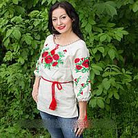 """Женская сорочка """"Макова роса"""" лен 8567  ( В.О.В.), фото 1"""