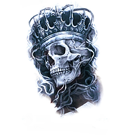 Флеш тату  Череп в короне