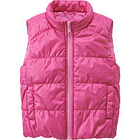 Детская жилетка дутая Uniqlo toddler body warm lite full zip west Pink