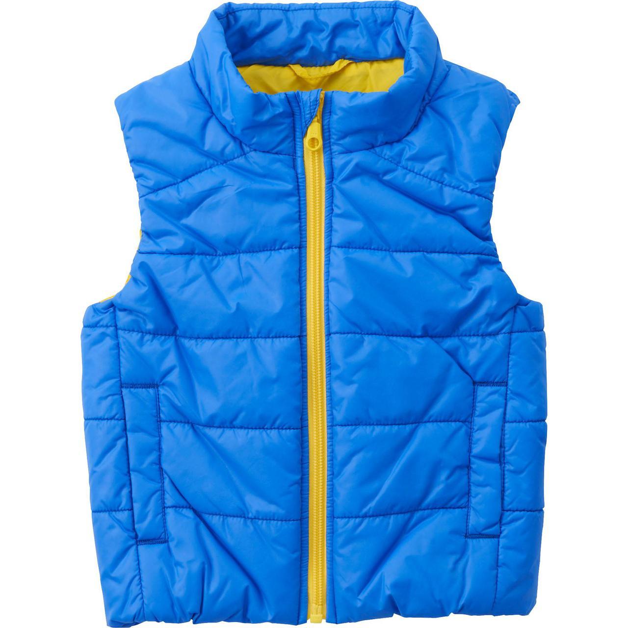 Детская жилетка дутая Uniqlo toddler body warm lite full-zip vest Blue