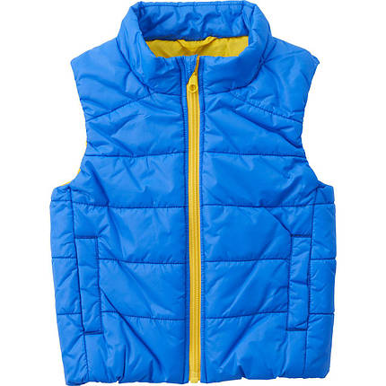 Детская жилетка дутая Uniqlo toddler body warm lite full-zip vest Blue, фото 2