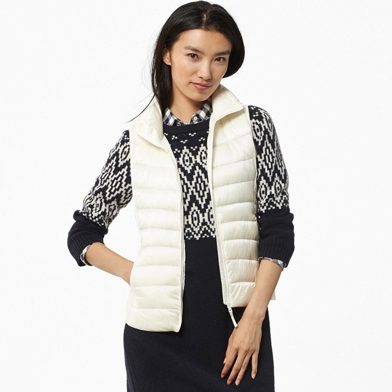 81cd48e782cdf Жилетка Женская Дутая Uniqlo Women Ultra Light Down Vest White — в  Категории