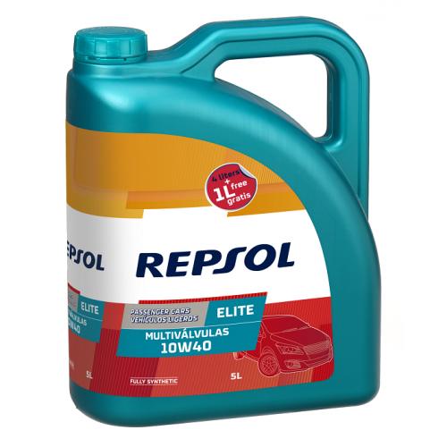 REPSOL ELITE MULTIVALVULAS 10W-40 4+1L