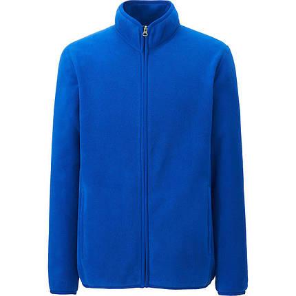 Флисовая кофта мужская Uniqlo Men Fleece Full-Zip BLUE, фото 2