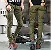 Джинсы байкерские мужские.Мужские узкие джинсы.Арт.А217