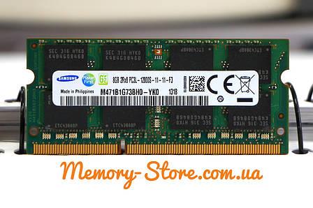 Оперативная память для ноутбука SAMSUNG DDR3 8GB PC3L-12800S 1.35V SODIMM (б/у), фото 2