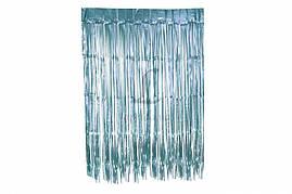 Шторка занавес из фольги для фото зон лазурная 1х2 метра